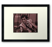 SCARFACE - Tony Montana Framed Print