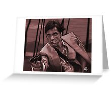 SCARFACE - Tony Montana Greeting Card