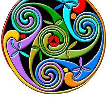 Celtic Illumination - Trinity Swirl II by William Martin