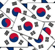 Smartphone Case - Flag of South Korea - Multiple III  by Mark Podger