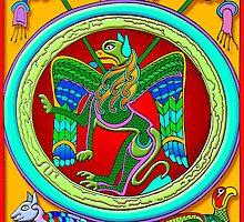 Celtic Illumination - Winged Lion by William Martin