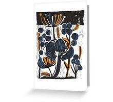Natural Form Relief Print Greeting Card