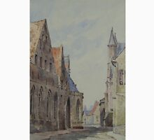 19th century watercolour of Bruges Classic T-Shirt
