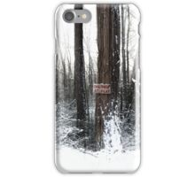 Children at Play Sign in the Snow iPhone Case/Skin