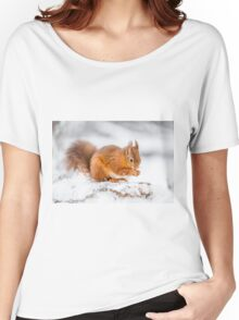 Red Squirrel searching for food Women's Relaxed Fit T-Shirt