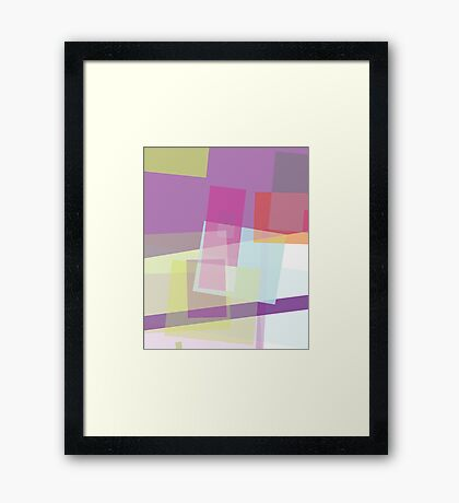 rectangular random - abstract  design Framed Print