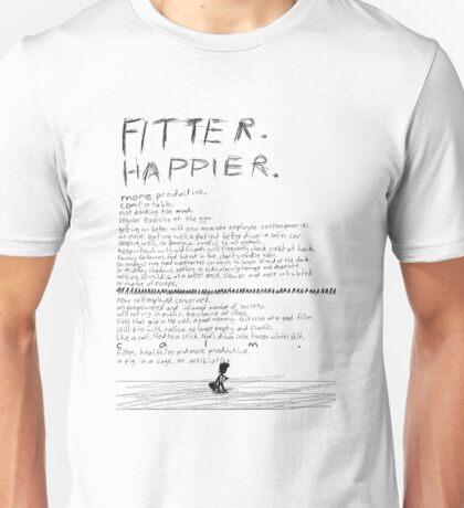Fitter Happier Radiohead Lyrical Display Unisex T-Shirt