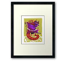 Slashing the Cursed Demon Framed Print