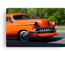 Orange American Car  Canvas Print
