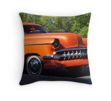 Orange American Car  Throw Pillow