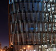 skyscraper  at night by mrivserg