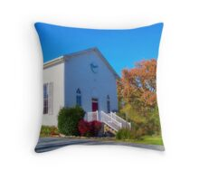 Country Church In The Fall Throw Pillow