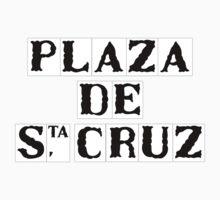 Plaza de Santa Cruz, Street Sign, Seville, Spain One Piece - Short Sleeve
