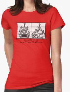 Monster Mug Shot Womens Fitted T-Shirt