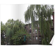 Historic Jersey City Architecture, Van Vorst Park, New Jersey Poster