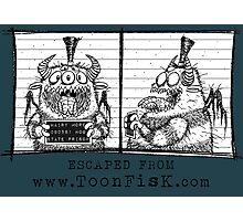 Monster Mug Shot Photographic Print
