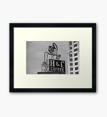 H & C Coffee Framed Print