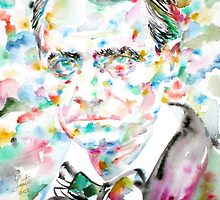 CHARLES BAUDELAIRE - watercolor portrait.1 by lautir