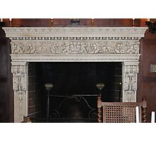 Early 1900's Bavaria Style Fireplace Photographic Print