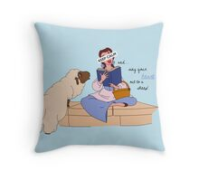 Keep Calm: Belle Throw Pillow