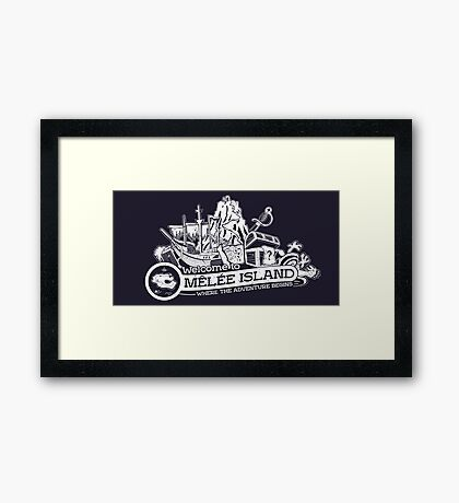 Welcome to Melee Framed Print
