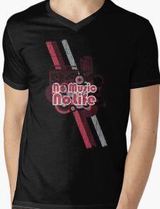 No Music No Life! Mens V-Neck T-Shirt