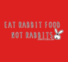 Eat rabbit FOOD not rabbits! Vegetarian vegan  One Piece - Short Sleeve