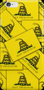 Smartphone Case - Gadsden (Tea Party) Flag VII by Mark Podger