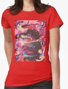 Dancing Demons by Suzanne Marie Leclair Womens Fitted T-Shirt