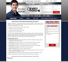 Cadiente Plumbing Website Project by Joshua Jacoby