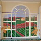 Tuscan Vineyard Mural - Apr  by Eldon Ward