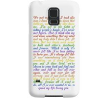 The Speech (iPhone 5/s) Samsung Galaxy Case/Skin