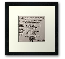 New Version - The Art of Biscuit Getting Framed Print