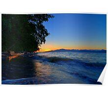 Acadia Beach Sunset Poster