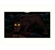 Beware the Moonlit Woods Art Print