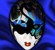 Blue Velvet Venice Mask  by BluedarkArt