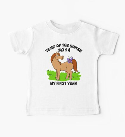 Born Year of The Horse Baby 2014 Baby Tee