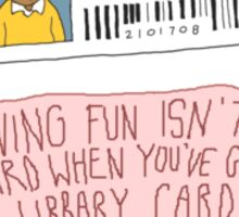 Library Card - Arthur  Sticker