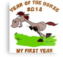 Born 2014 Year of The Horse Baby Metal Print