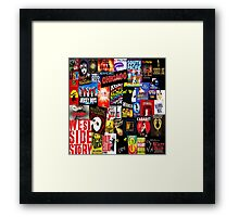 Broadway Collage Framed Print