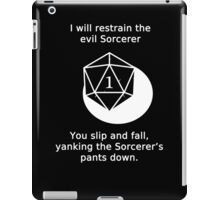 D20 Critical failure - Grapple iPad Case/Skin