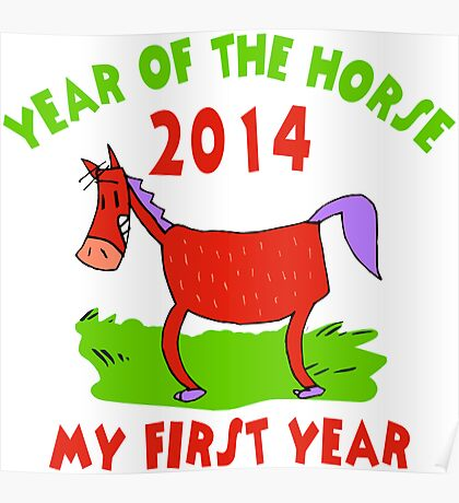 Born Year of The Horse 2014 Baby Poster