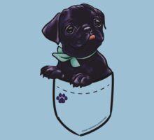 Pocket Puppiez - Pug Black Kids Clothes