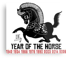 Chinese Zodiac Horse - Year of The Horse Paper Cut Metal Print
