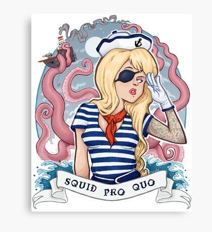 Squid Pro Quo Canvas Print