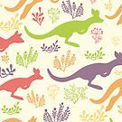 Jumping kangaroos pattern by oksancia