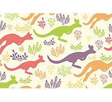 Jumping kangaroos pattern Photographic Print