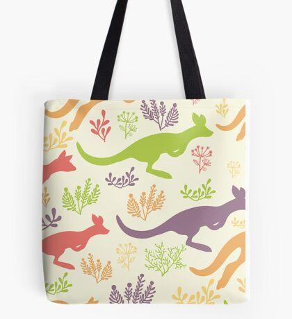 Jumping kangaroos pattern Tote Bag