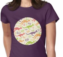 Jumping kangaroos pattern Womens Fitted T-Shirt