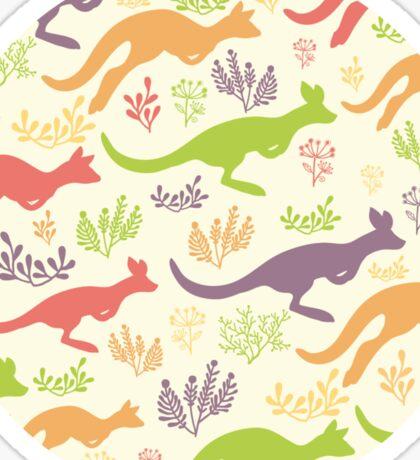 Jumping kangaroos pattern Sticker
